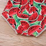 Newborn Baby Girls Watermelons Printed Ruffle