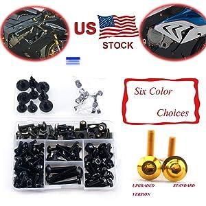 Complete Alloy Motorcycle Body Fairing Bolt Kit Body Screws For Kawasaki Ninja 650R 2006-2011