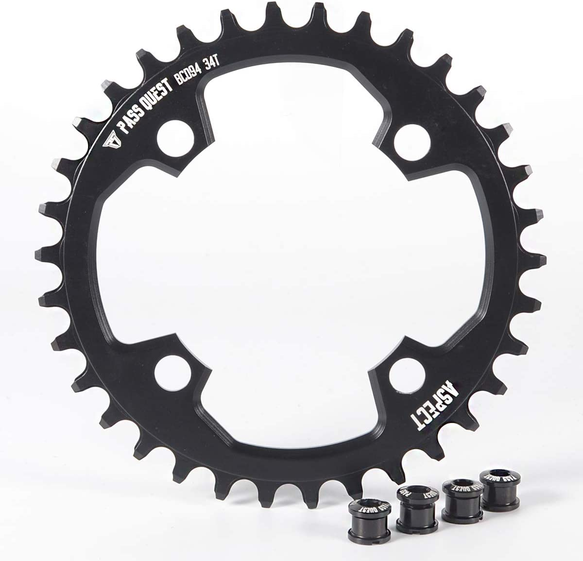PASS QUEST 94BCD MTB Narrow Wide Chainring/Chain Ring 32T/34T/36T/38TBike Bicycle Chainwheel/Chain Wheel Crankset