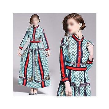 Vestido de Mujer Falda Retro sobre la Rodilla Falda Solapa ...