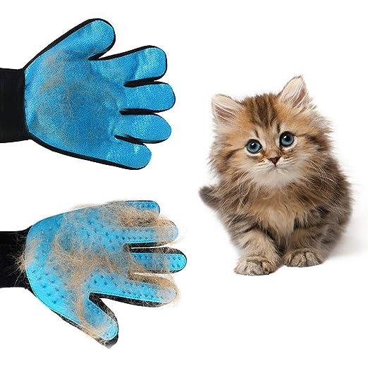 Lijuan Qin Guante de Silicona para el Cuidado de Mascotas, Cepillo ...