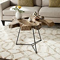 Safavieh Home Collection Babylon Natural Coffee Table, Orange