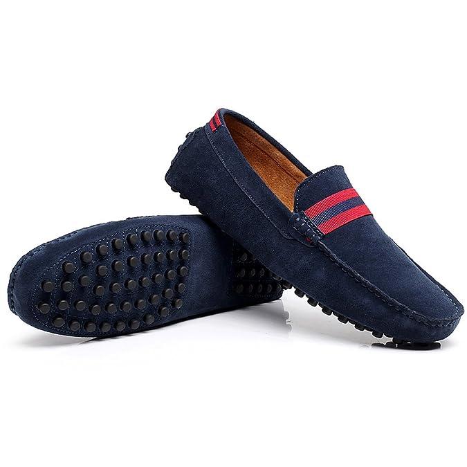 Shenn Hombre Conducción Coche Ponerse Comodidad Cuero Mocasines Zapatos: Amazon.es: Zapatos y complementos