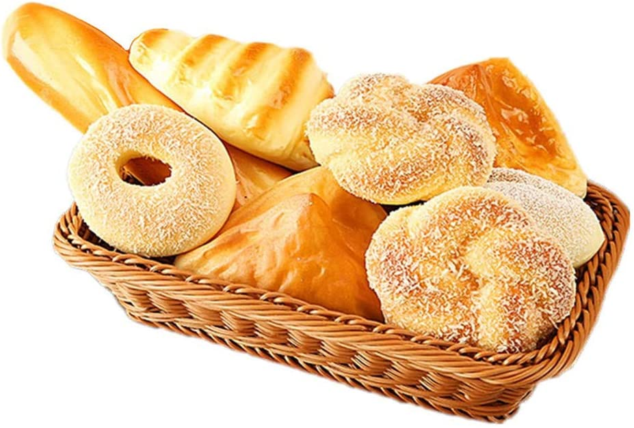 Simulation Food PU Fake Bread Model 8 Pieces