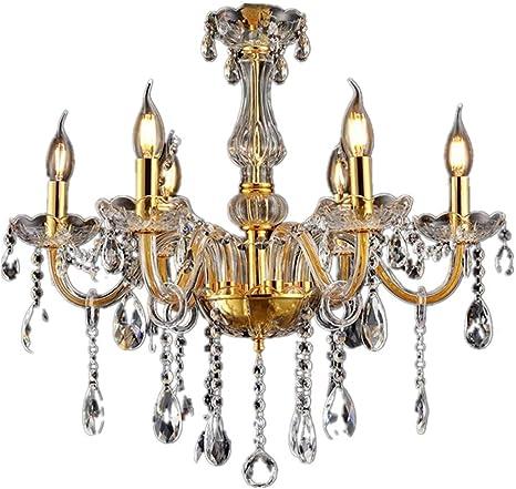 Kristall Kronleuchter Lüster Deckenleuchte Hängeleuchte Lampe Glas 6-flammig