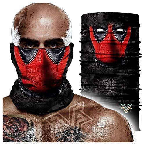 Seamless headscarf,Deadpool Venom Magic Turban, Riding Sports Face Mask, Breathable Sunscreen Turban 24 * 48cm A