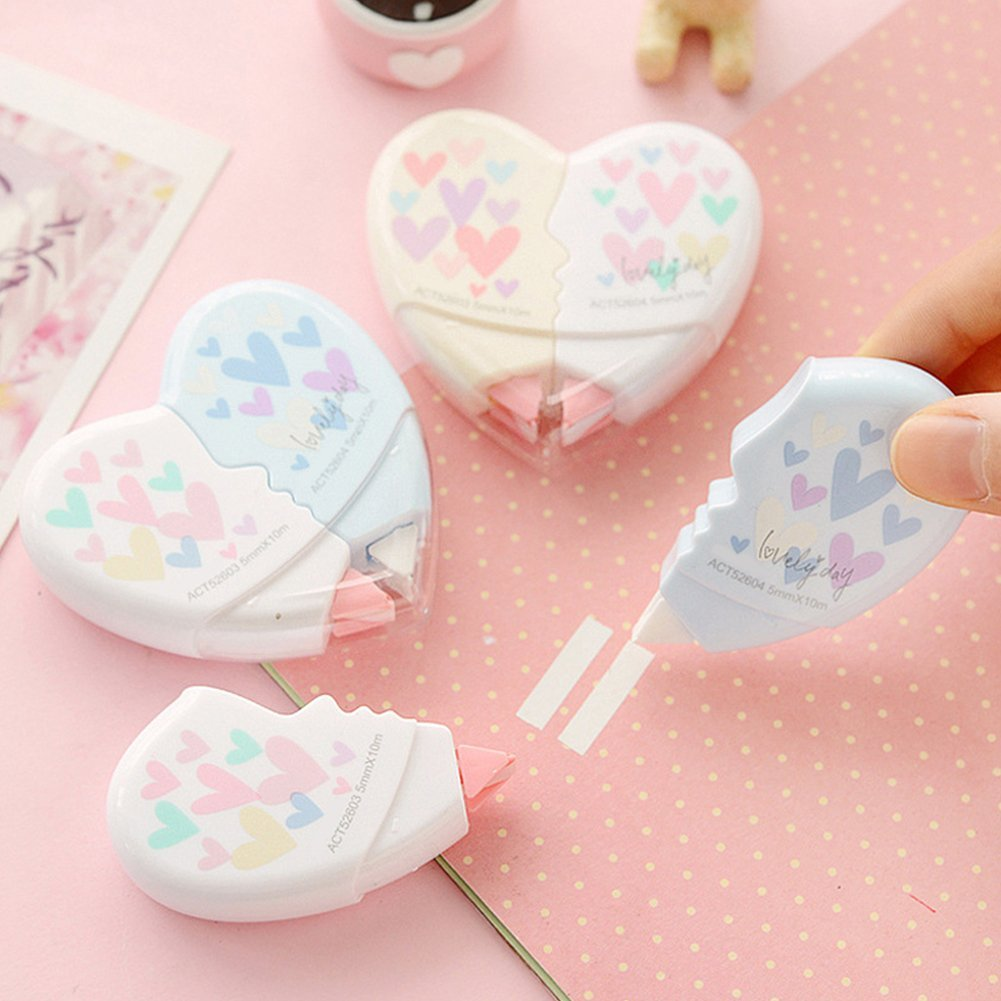 Amazon.com : 10M Cute Heart Shaped Correction Tape Wrong Words ...