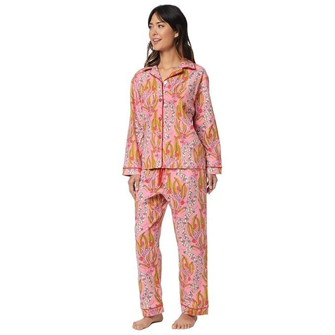 Amazon.com: La pijamas Miranda del gato franela Pajama: Clothing