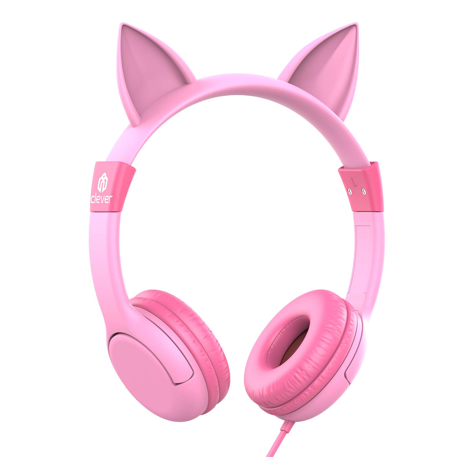 a7f7a0eaabd iClever Kids Headphones Girls - Cat-Inspired Wired On-Ear Headphones for  Kids, 85dB Volume Limiting, Food Grade Silicone, Lightweight, ...