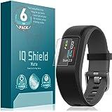 Garmin Vivosport Screen Protector (6-Pack), IQ Shield Matte Full Coverage Anti-Glare Screen Protector for Garmin Vivosport Bubble-Free Film