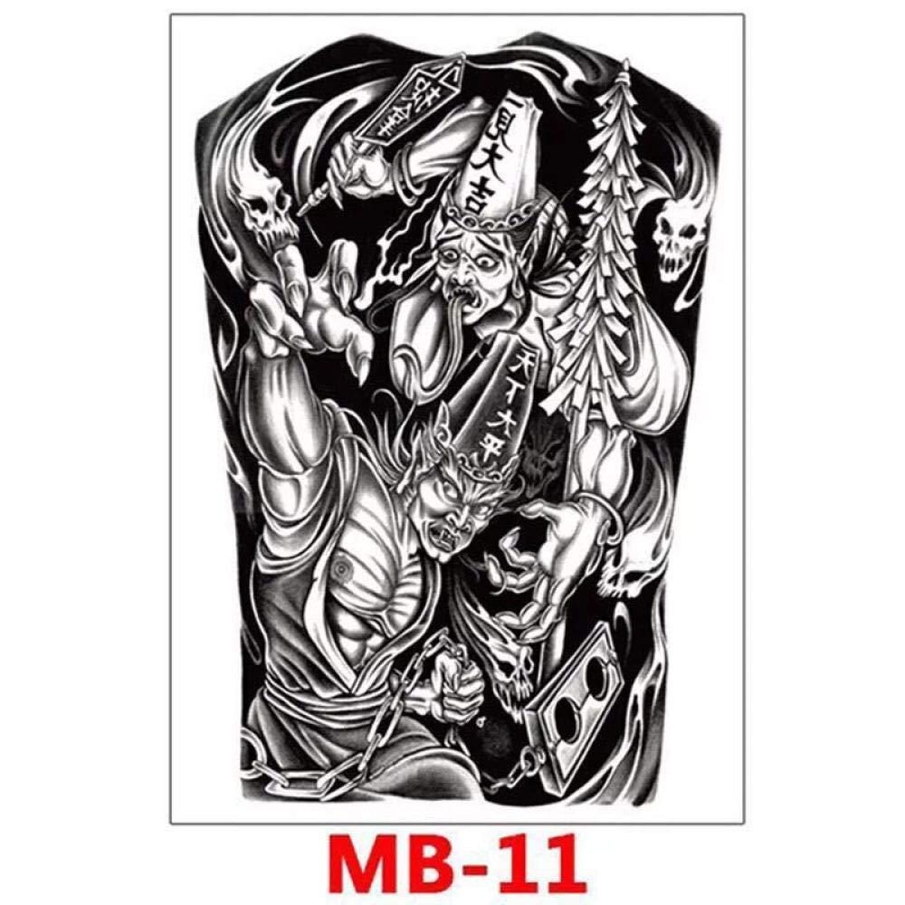 3 piezas Etiqueta engomada del tatuaje Gran brazo de flores Medio ...
