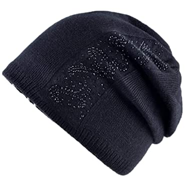 8c162f62cfa Image Unavailable. Image not available for. Color  Rhinestone Solid Knitted  Beanie ...