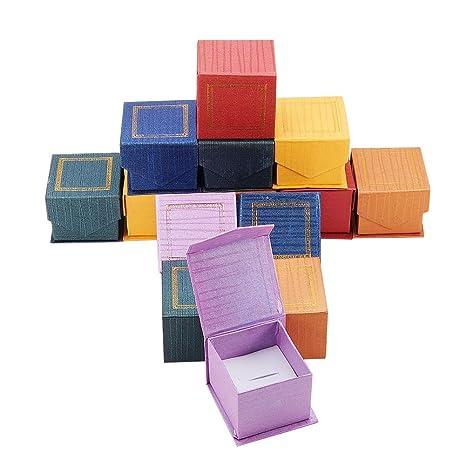 NBEADS 24 Cajas magnéticas de cartón para Joyas, para ...