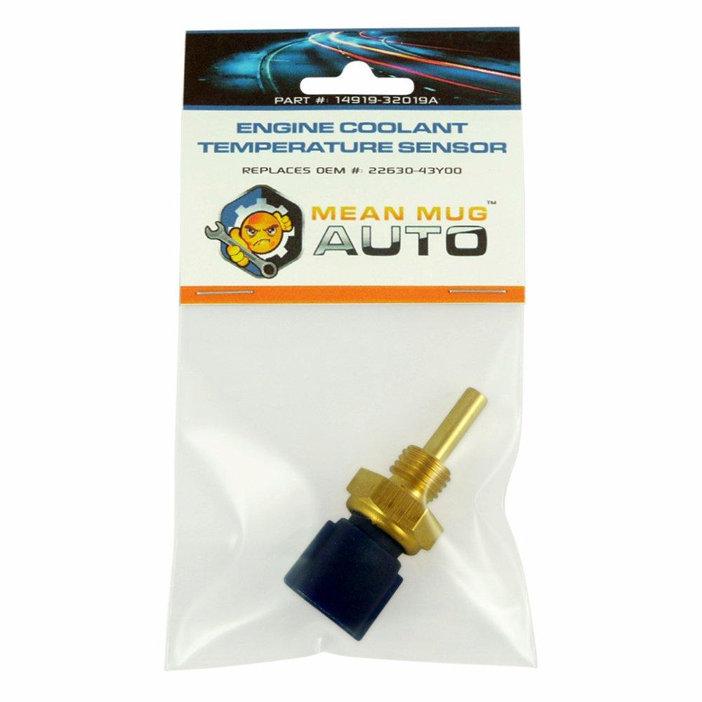 Mean Mug Auto 14919-32019A Engine Coolant Temperature Sensor - For: Nissan, Infiniti - Replaces OEM #: 22630-43Y00, 22630-0M200, 22630-71L00