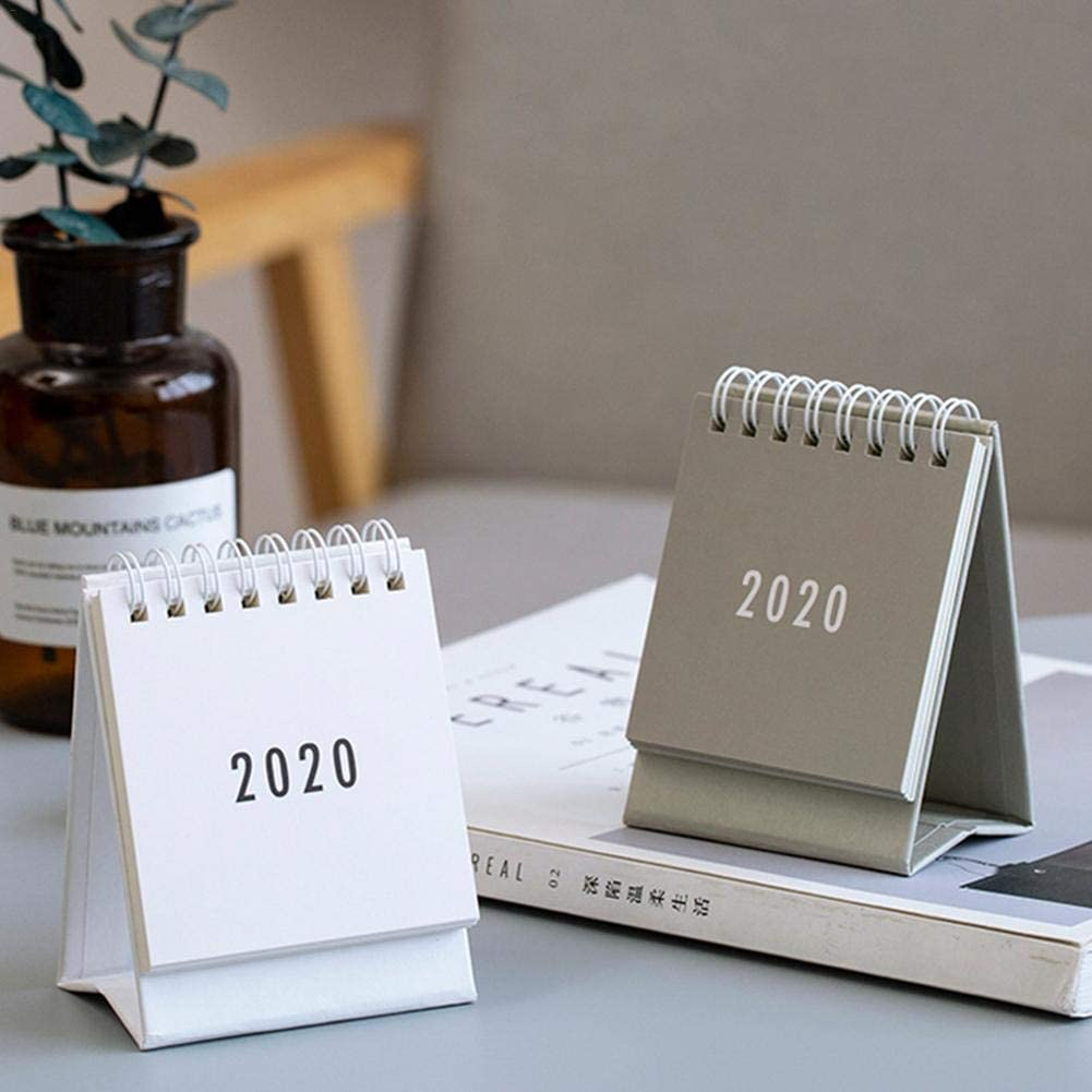 delibett 2020 Desk Office Table Calendar Flip Desktop Calendar 2020 Calendar And Planner Month To View For Classroom Family Or Business Office
