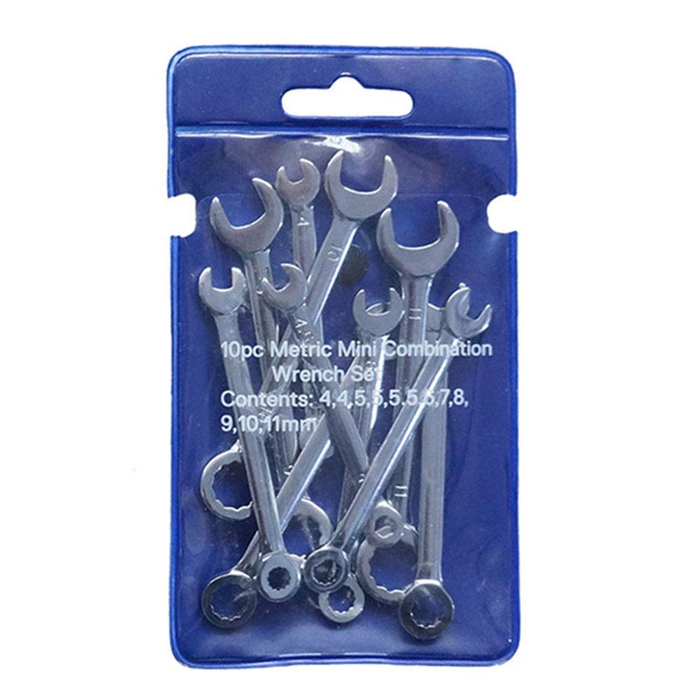 Kiode 10Pcs//Set Professional Mini Combination Wrench,Spanner Set 4-11mm Metric Small