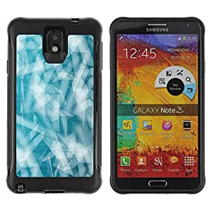 CAZZ Rugged Armor Slim Protection Case Cover Shell // Minimalist Pattern // Samsung Note 3