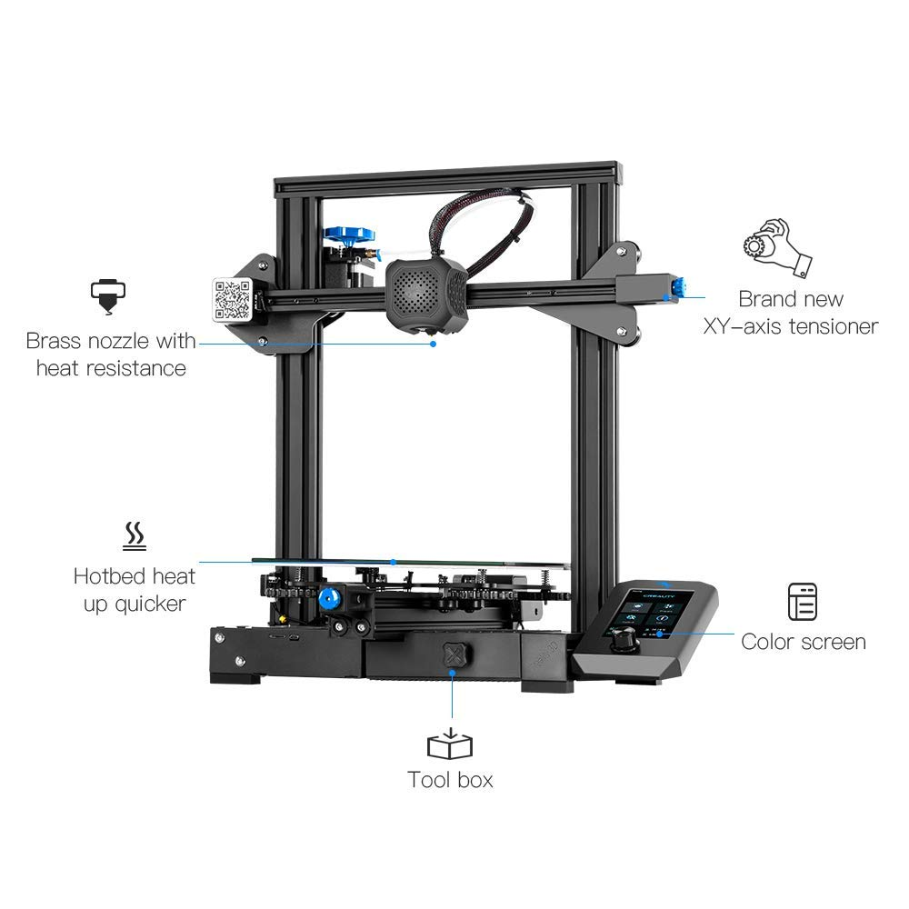 Creality Ender 3 V2 3D Printer with Self-develoed Silent Mainboard