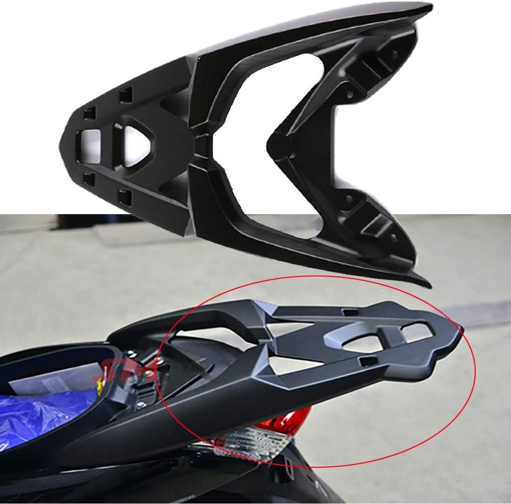 61 x 39 x 7 cm in Lega di Alluminio per Nmax 155 NMAX 125 N-MAX 155 N-MAX155 Portapacchi Posteriore per Moto Nero Scaffale di Supporto per Portapacchi