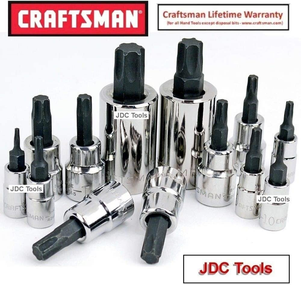 13-Piece CRAFTSMAN Torx Bit Socket Set CMMT49294