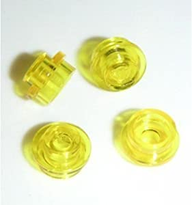 Lego Building Accessories 1 x 1 Transparent Yellow Round Brick Plate, Bulk - 100 Pieces per Package