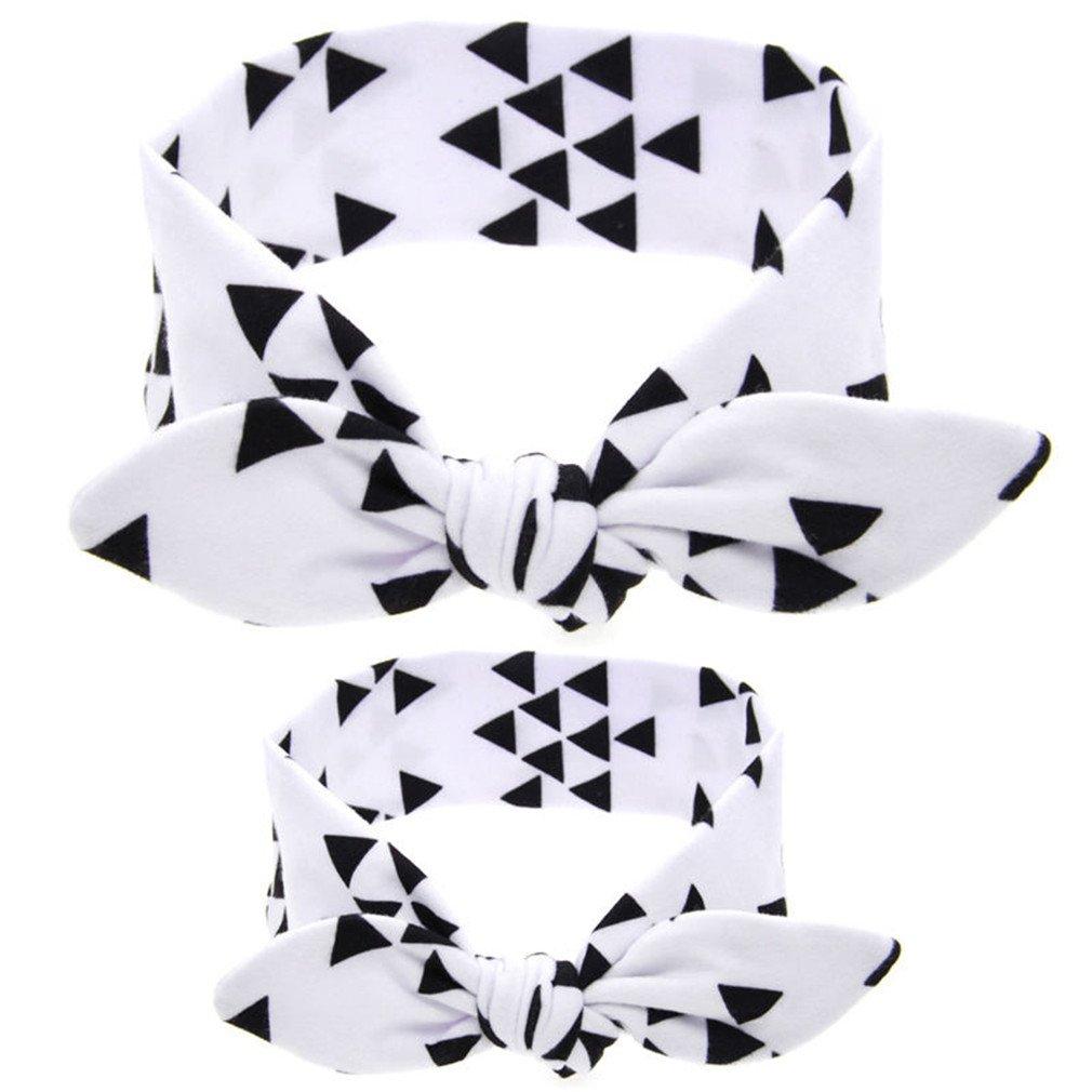 LBZEZR Mom and Baby Girls Headband Headwrap Hairband Elastic Hair Knot Bow Set 0RA095826D4V8I63