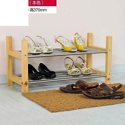 Estante del zapato de madera sólida gabinete moderno simple de múltiples capas del zapato zapatero estante