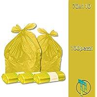 palucart® Bolsas Basura Color Amarillo cm 70x 110(110L)