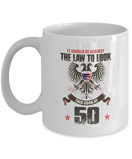 Gag 50th Birthday Gift For Great Grandpa Mom Against Law Look Good At 50