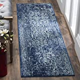 Safavieh Evoke Collection EVK256A Vintage Oriental Navy and Ivory Runner (2'2″ x 7′)