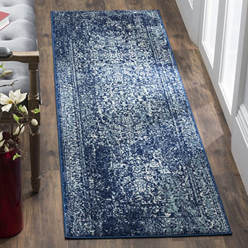 Safavieh Evoke Collection EVK256A Vintage Oriental Navy and Ivory Runner (2'2