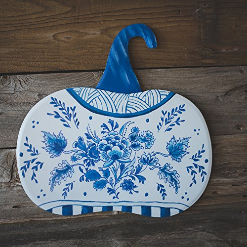 The Round Top Collection Blue & White Pumpkin Lg - Metal