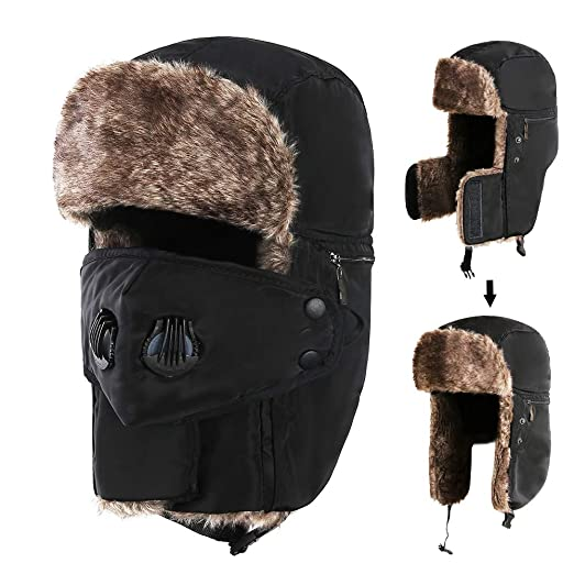 Amazon.com  Trooper Trapper Hat Winter Hat with Ear Flaps for Men ... bbceee76cc51