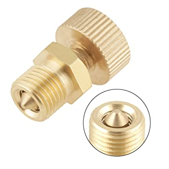 Qinlorgo Bleed Valve Screw,Brass Bleed Valve Screw 1pcs Brass Air Bleed Valve Screw for High Pressure Electric Pump Accessories