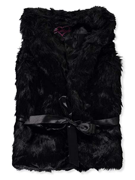dollhouse Big Girls Belted Faux Fur Vest