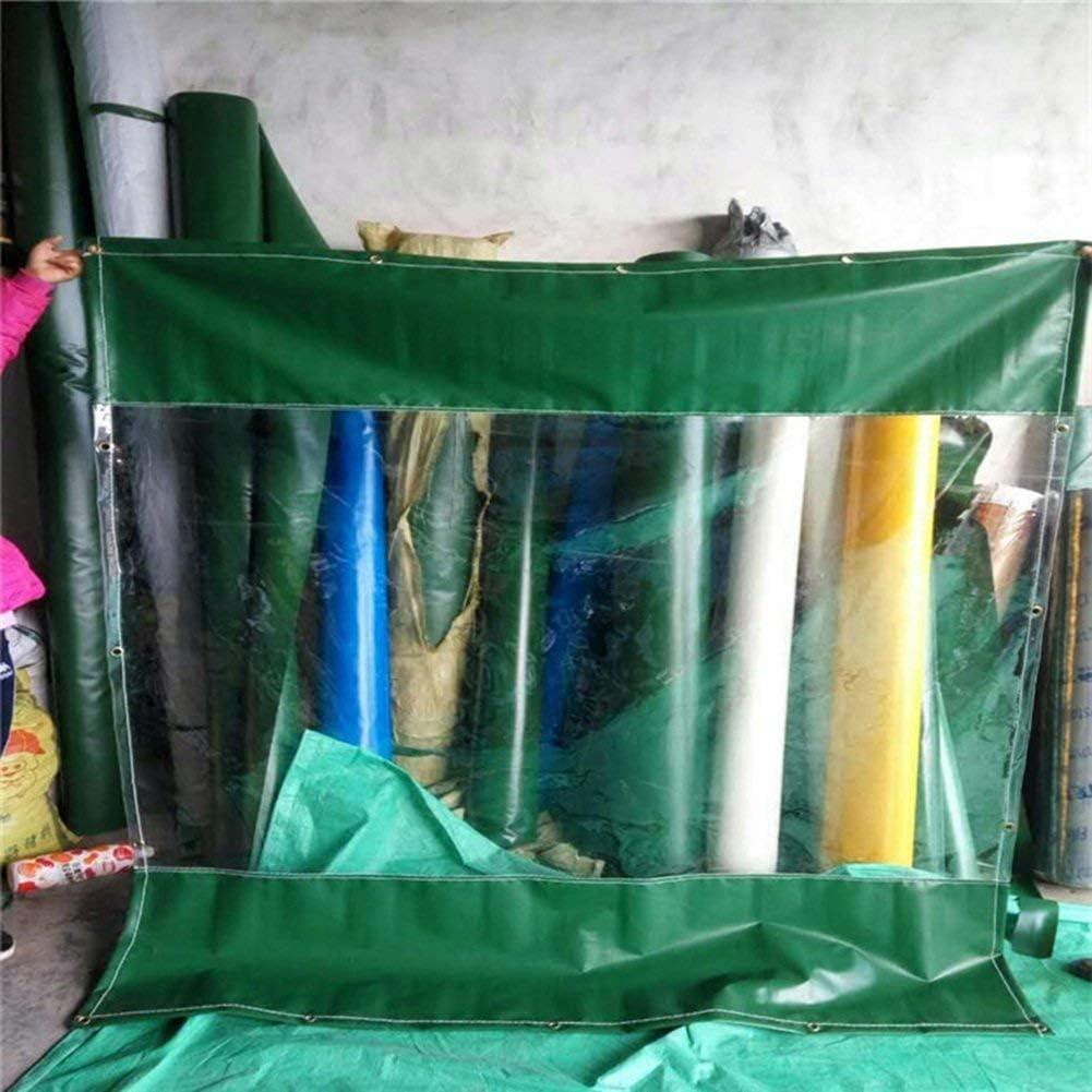 防雨ターポリンタープグランドシートカバーテントオーニングプラスチックは布透明防風アウトドア、カスタマイズ、500G /㎡シェッド F2/6 (Size : 3x6m)