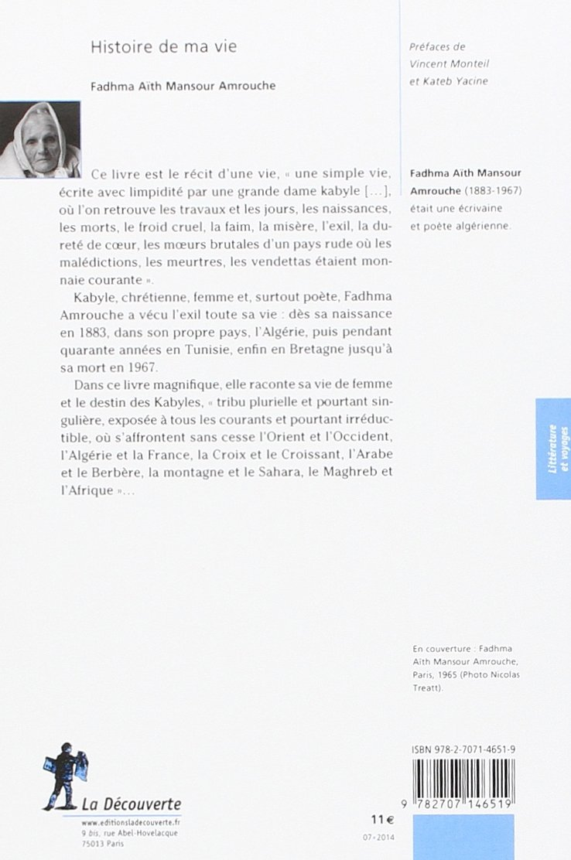 histoire de ma vie fadhma ait mansour amrouche pdf