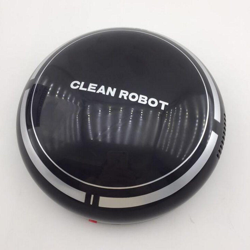 Ragdoll50 Robotic Vacuum Cleaner, Automatic USB Rechargeable Cleaning Smart Robot Floor Robotic Vacuum Cleaner Sweeping Suction Sweeper Tool, Automatic Cleaning Robot(Black)