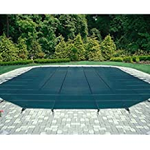Mesh Safety Pool Cover -Pool Size: 25' x 45' Green Rectangle Arctic Armor Silver 12 Yr Warranty
