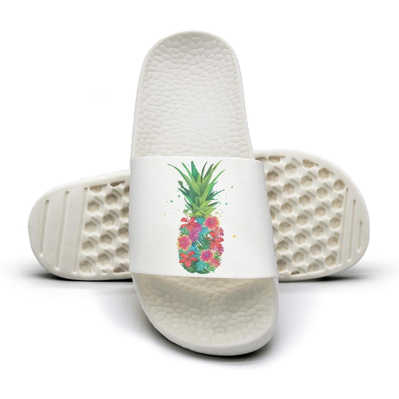 WooWe Pineapple Flowers Aloha Hawaii - Vintage Hawaiian men Fashion Slippers Sandals Casual by WooWe (Image #1)