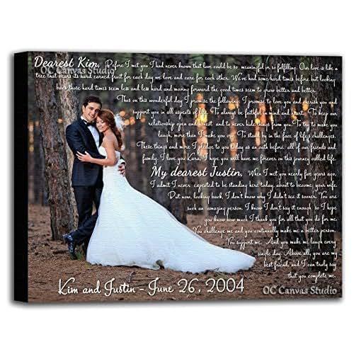 Amazon Wedding Gift Ideas: Amazon.com: Personalized Wedding Photo Canvas Print With