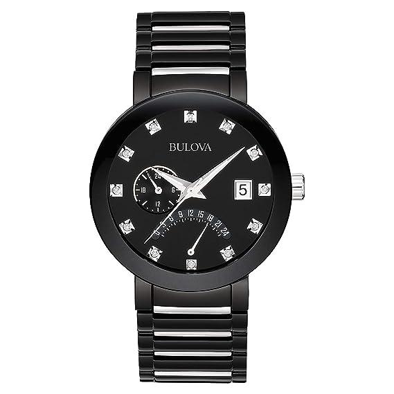 Bulova 98D109 - Reloj de Pulsera Unisex Adulto Hombre, Acero Inoxidable, Color Negro