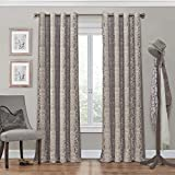 Eclipse Blackout Curtains Eclipse Nadya Grommet Blackout Window Curtain Panel, 84-Inch, Linen