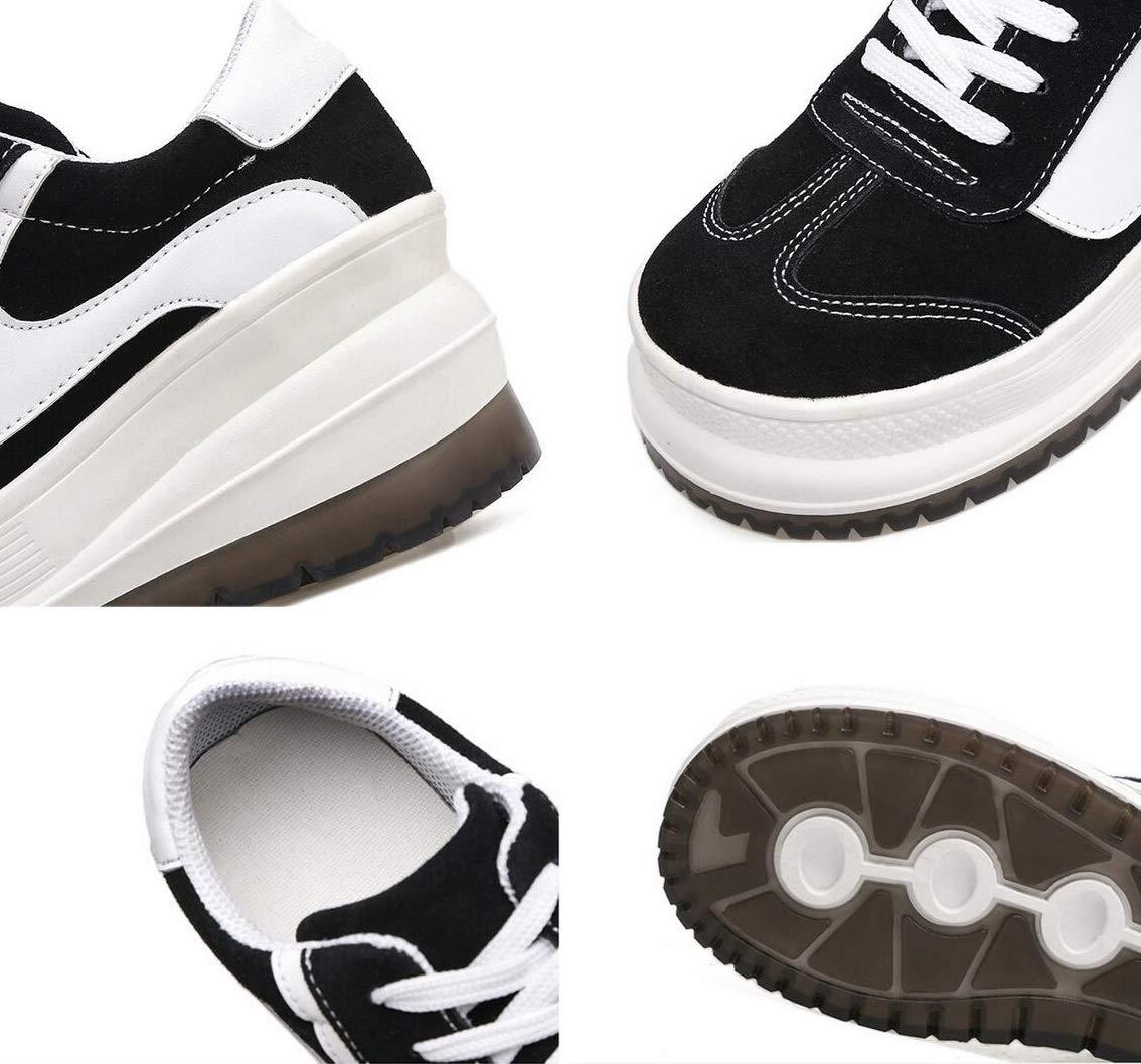 Beiläufige Schuhe der Frauen Frühlings- leathe Frühlings- Frauen   Fallwinter starke Unterseite erhöhen Komfort-Turnschuhe Damen-Retro- beiläufige Art und Weise schnüren sich einzelne Schuhe der Schuhe Studenten-Bel 0b990b