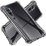 UCMDA Funda para Xiaomi Mi Note 10/Note 10 Pro - Fundas Transparente Silicona TPU Carcasa Protector Airbag Anti-Choque Case para Xiaomi Mi Note 10/Note 10 Pro