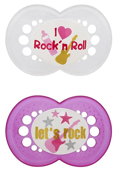 Amazon.com: MAM 2 Pack Rock N Roll silicona chupete, 6 ...