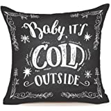 "Baby It's Cold Outside Pillow Covers,MFGNEH Christmas Gifts Cotton Linen Throw Pillow Case Cushion Cover 18 ""X18 """