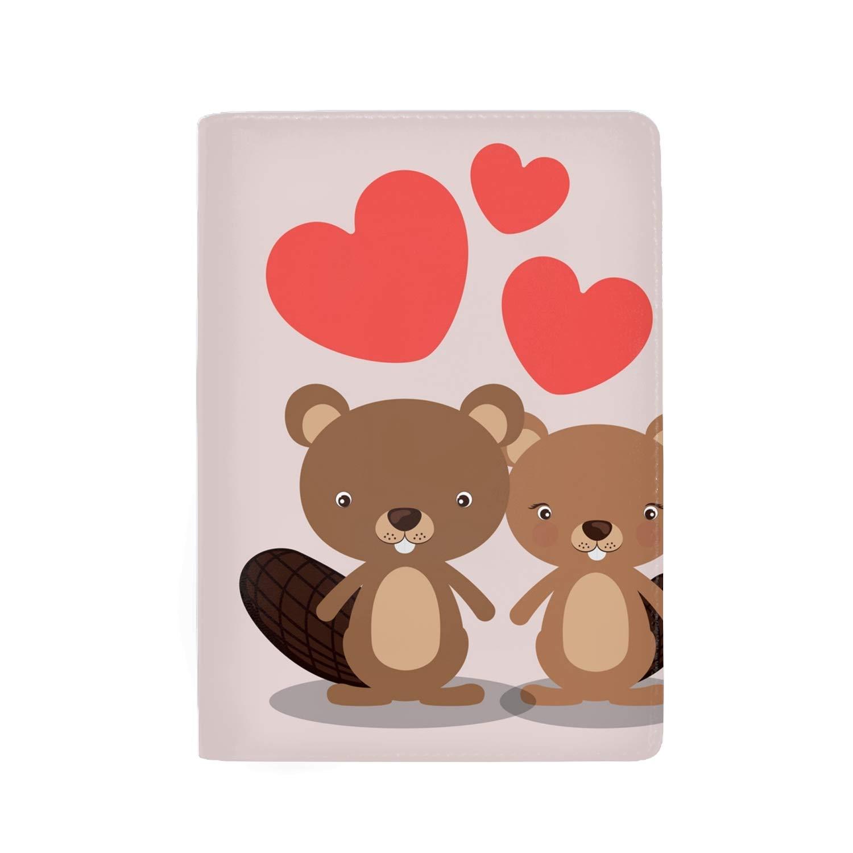 5 Slots Cute Squirrel Theft Proof Leather Wallet for Men /& Women RFID Blocking Passport Holder
