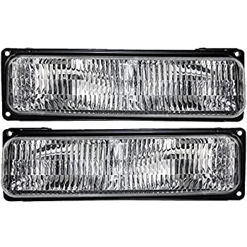 Driver and Passenger Lower Signal Side Marker Lights Lamps Replacement for Chevrolet Van 5977273 5977274 AutoAndArt