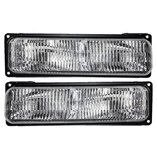 Driver and Passenger Park Signal Front Marker Lights Lamps Lenses Replacement for Chevrolet GMC Van 5977271 5977272 AutoAndArt